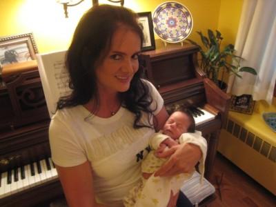 Piękny chłopiec piękny i ciotką