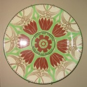 """Royal Doulton 10"""" plate (D5549?, 4) """"Come and Welcome.  Go by and not Quarrel."""""""