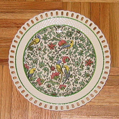 Royal Doulton Persian chintz reticulated plate, D3550
