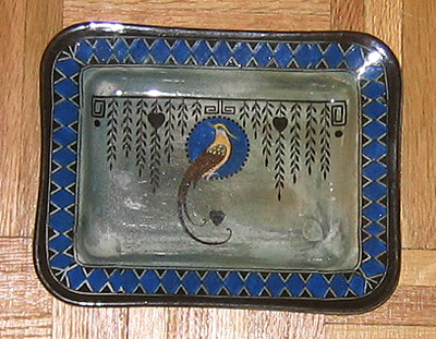 Royal Doulton Titanian Bird of Paradise Tray, D4222