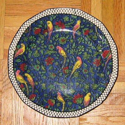 Royal Doulton Persian chintz plate, D4031, blue