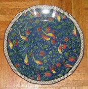 Royal Doulton Persian chintz plate, D4031, blue, large