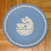 Wedgwood Jasperware plate: Mother's Day, Achilles