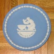 Wedgwood Jasperware plate: Mother's Day, Achilles