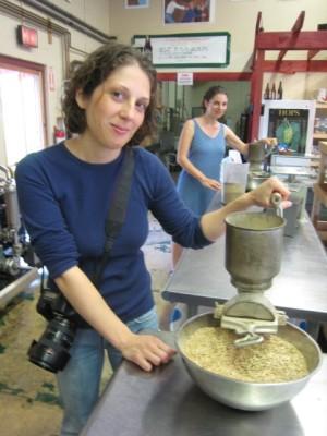crushing the grain