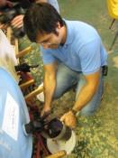 measuring out the pale malt
