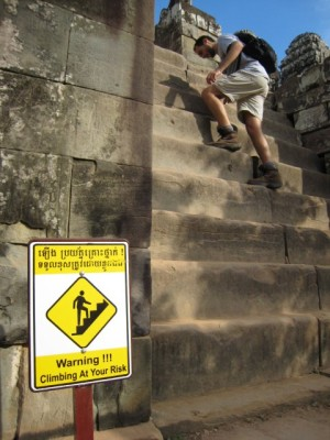 """Warning!!! Climbing At Your Risk"""