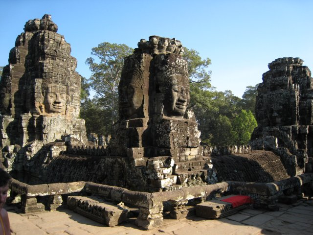some of the Bayon's Khmer faces