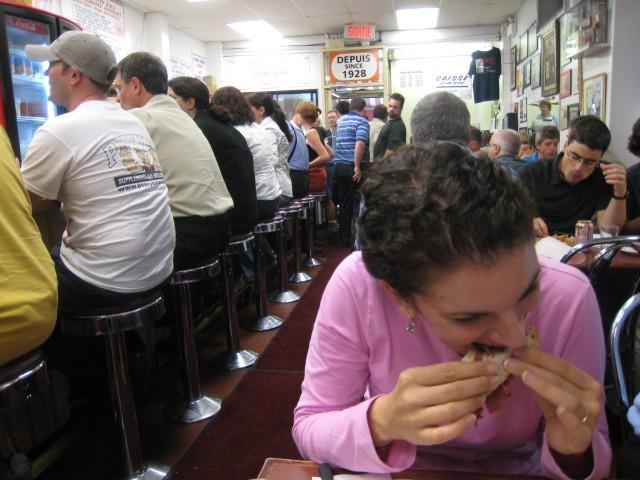 Schwartz's viande fumee (smoked meat) sandwich