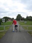 Entering the bike trail.