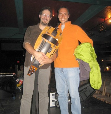 Nicolas, the hurdy gurdy (a.k.a. wheel fiddle) and me