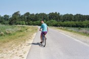 biking in Chincoteague National Wildlife Refuge