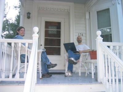requisite quaint porch scene