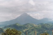 Arenal volcano; it finally came out on our way out of Fortuna