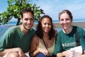 on the beach in Quepos