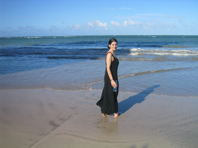 strolling on the beach in San Juan (an unplanned and unfortunate stop)