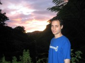 Our first sunset on Dominica - at Papillote