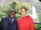 Ron and Jackson, our guide to Trafalgar Falls