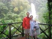 soaked and happy at Trafalgar Falls