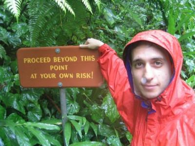 one of many warning signs on Dominica