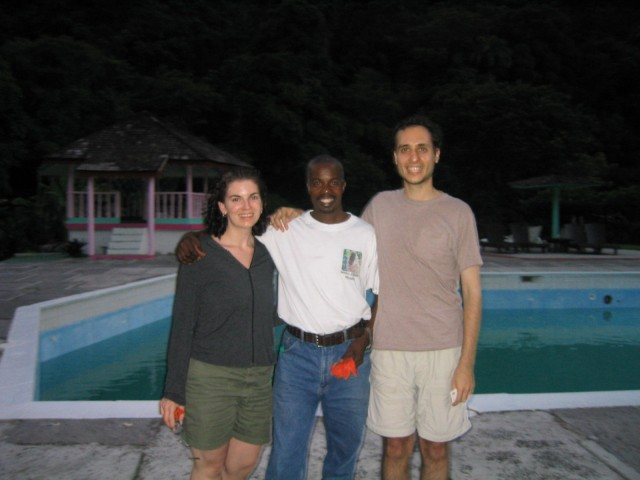 Cyrille and us at the end of our botany tour