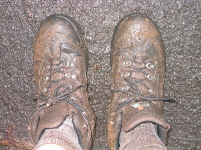 ...but my boots didn't fare as well...