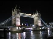 the Tower Bridge, splendid at night