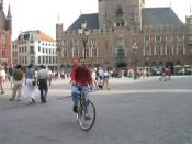 biking around Bruges' central square