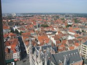 Bruges rooftops, from the bell tower
