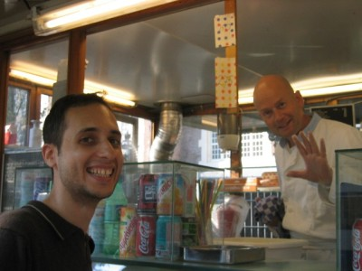 buying more vlamsche frites (from Mr. Clean)