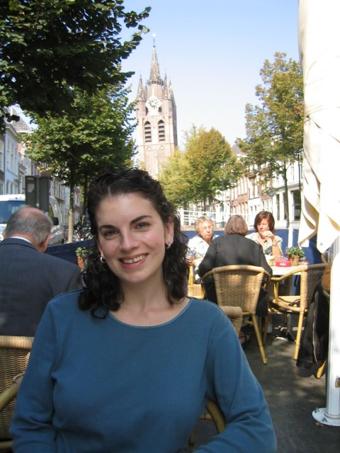 having lunch in Delft