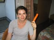 savoring a [stolen] Texel carrot - mmmmm