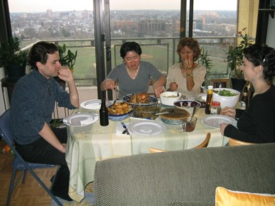 Thanksgiving 2003, with erik and mong