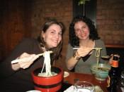 hot soba noodles at Honmura An