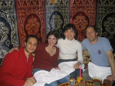 dinner with new friends and old, at Marrakesh (in Belltown)