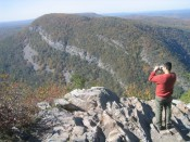 view of the Delaware Water Gap from Mount Tammany