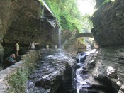 Rainbow Falls, at Watkins Glen State Park