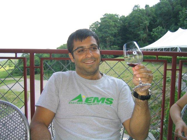 tasting at Heron Hill winery