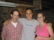 ron, lisa and an unidentified, clean-shaven gentleman