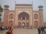 gate of the Taj Mahal, Agra