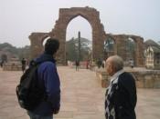 with Mr. Kaila at Qutab Minar
