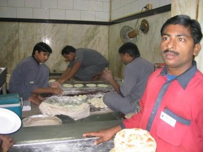 outdoor kitchen at Karim's restaurant, Old Delhi