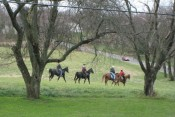 our neighbors out for a horseback ride