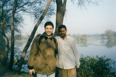 with Debi Singh in Bharatpur