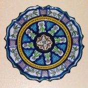 Hernandez hand-painted ceramic plate, Pue, Mexico