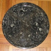 Morrocan fossilized marble plate, Oregon