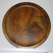 Hand-carved Myrtlewood plate, Bandon, Oregon