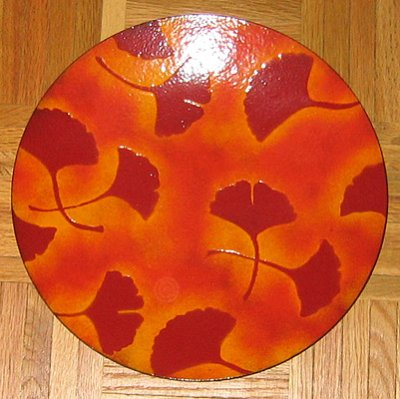 Mackintosh Enamels Ginkgo plate (custom made)
