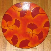 Mackintosh Enamels Ginkgo plate (custom made)