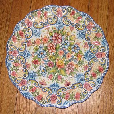 Sevillarte decorative plate, Spain